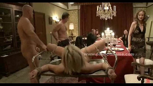 Naked girls being served as dinner