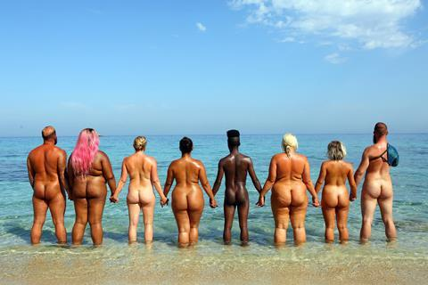 Naked womens play with them self the beach